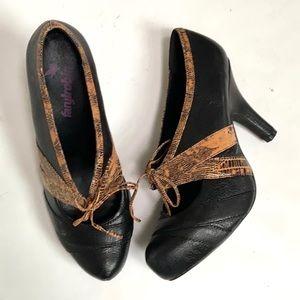Anthropologie Farylrobin Leather Heels